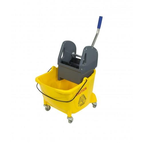 Găleată pe roți pentru curățenie 24 L cu presă mop