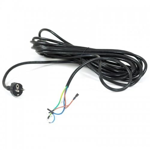 Cablu alimentare negru 10 m cu pini
