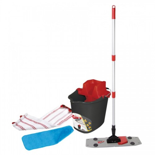 Set complet curățenie CLICK'N PRESS cu galeată și mop